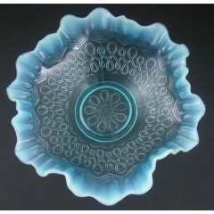 Blue Opalescent Many Loops Bowl - Jefferson Glass