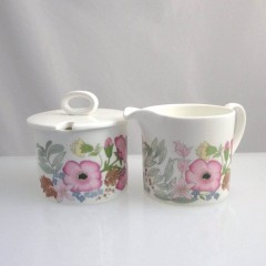 Wedgwood Bone China Meadow Sweet Creamer & Lidded Sugar Set
