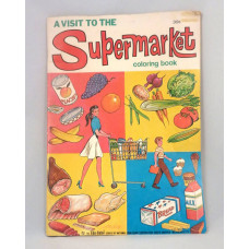 Oversized L B Cole Vintage 1970 Visit to the Supermarket Coloring Book