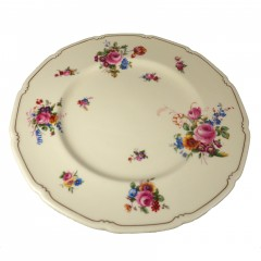 Royal Doulton The Bristol Dinner Plate with Pink Floral Pattern