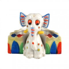 Made in Japan Vintage Lusterware Elephant Ashtray