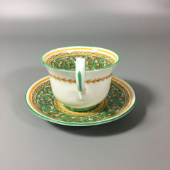 1930s Corinthian Paragon Bone China Demitasse Cup and Saucer Set Green