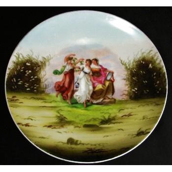 Austrian c1904 Victoria Schmidt & Co. Three Graces Plate