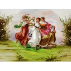 Austrian c1904 Victoria Schmidt The Three Graces Decorative Plate