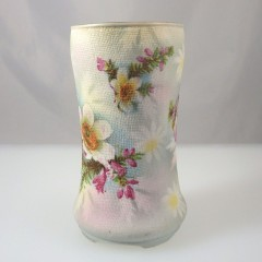 Antique HTF Royal Bayreuth Christmas Cactus Tapestry Vase