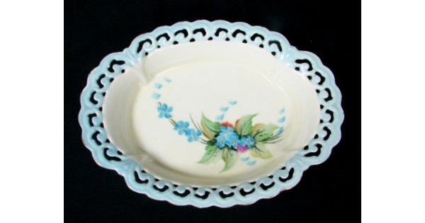 Antique Schonwald Bavarian Porcelain Open Oval Trinket Dish