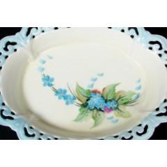 Antique Schonwald Bavarian Porcelain Open Oval Trinket Dish