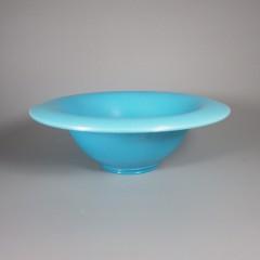 Celeste Blue Northwood #694 Flared Rim Stretch Glass Bowl