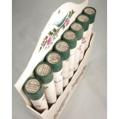 Rare Complete Set: 8 Shulton Friendship Garden Bath Salt Tubes