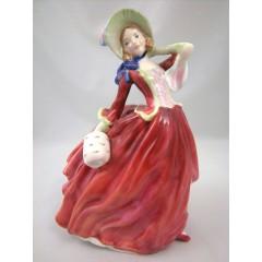 Vintage Royal Doulton Autumn Breezes Figurine Lady HN 1934