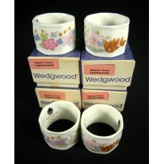 Set of 4 Wedgwood Meadow Sweet Napkin Rings in Original Box