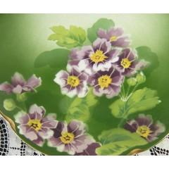 French Keller Guerin Luneville Purple Primrose Plate