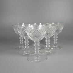 Vintage Hawkes Crystal Glasses Set Munster Cordial Sherry Wine Liqueur