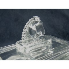 Large Heisey Puritan Horse Head Cigarette Box & Cover