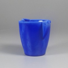 Blue Vintage Akro Agate Interior Panel Teapot Children's Play Toy Dish