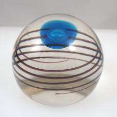 Murano Refractive Cyclone Art Glass Paperweight