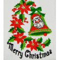 Vintage Merry Christmas Hand Towel - Never Used