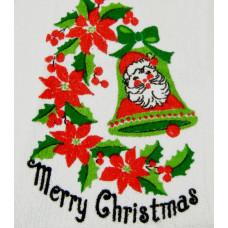 Vintage Merry Christmas Hand Towel - Never Used