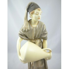 Royal Dux Figurine of Young Turk with Water Jug
