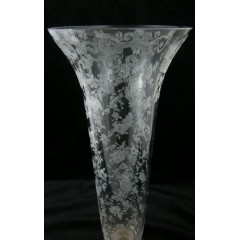 Cambridge Chantilly Vase with Sterling Base - Tall and Elegant