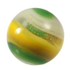 Akro Agate Yellow Green Popeye Corkscrew Marble