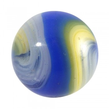 Akro Agate Blue Yellow Popeye Corkscrew Marble