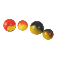 Master Marble Comet Peewee, 5/8 Prs - Egg Yolk/Red, Black/Yellow