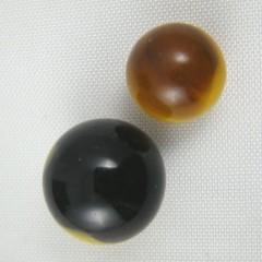 Master Marble Comet Peewee, 5/8 Prs - Egg Yolk/Red, Black/Yellow