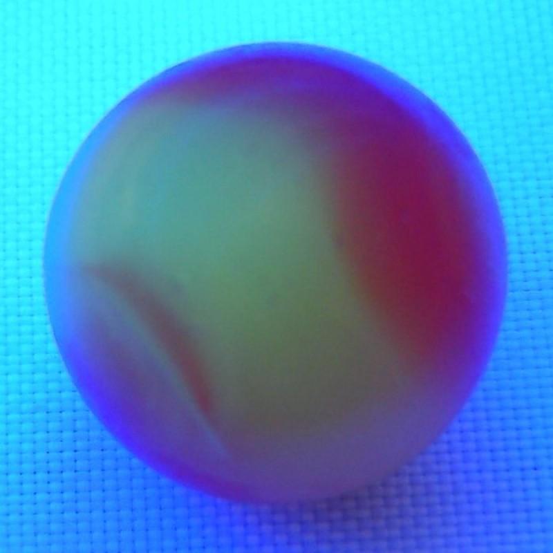 Akro Agate Carnelian Corkscrew Marble Uv