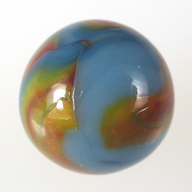 Vintage Alley Agate Superman Marble