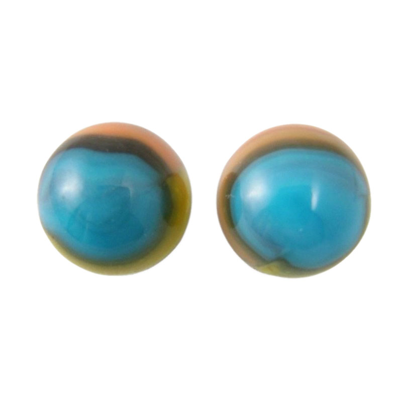 Single Colored Marbles : Vitro tiger eye type marbles tri color patch and ribbon