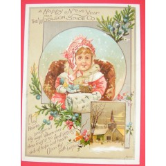 Woolson Spice Co. New Year Trade Card - Bufford
