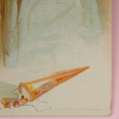 Christmas 1893 Woolson Spice Writing Letter to Santa Trade Card