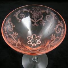 Pair of Pink Fostoria Versailles High Sherbets
