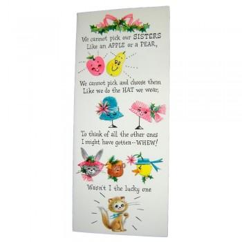 Unused Hallmark Slim Jim Sister Christmas Card with Envelope