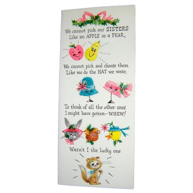 Unused hallmark slim jim sister christmas card with envelope m4hsunfo Gallery