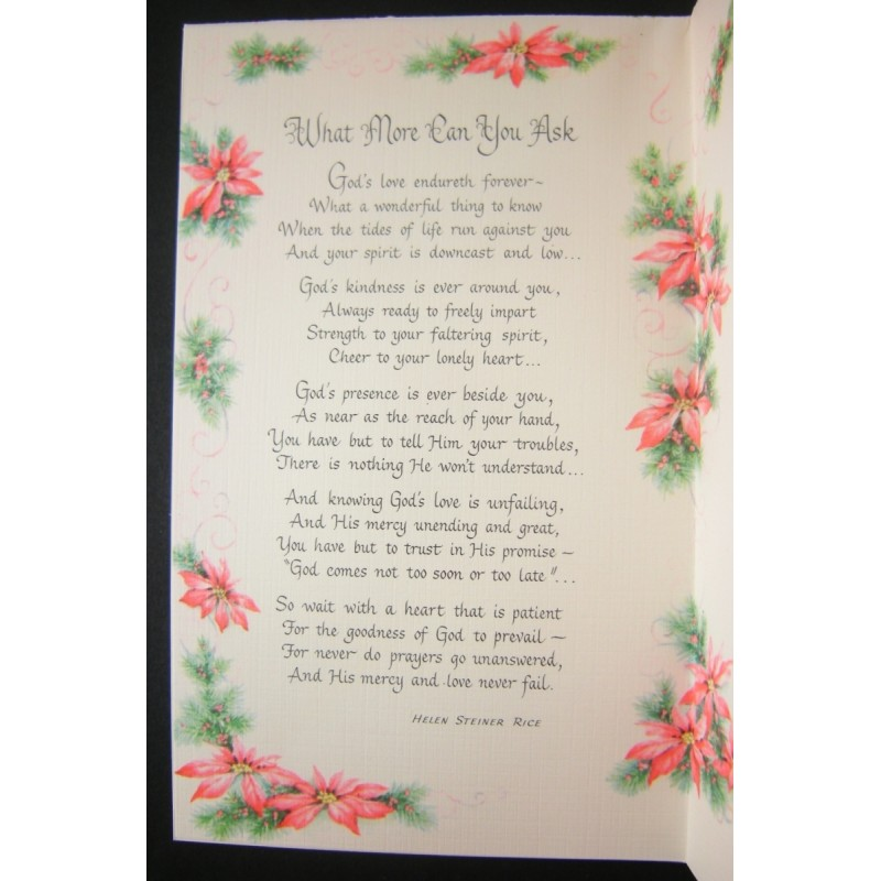 Steiner Rice Inspirational Gibson Christmas Greeting Card Unused
