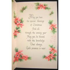 Helen Steiner Rice Inspirational Gibson Christmas Greeting Card - Unused Vintage