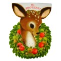 Die Cut Hallmark Deer Brother Vintage Christmas Greeting Card - Unused