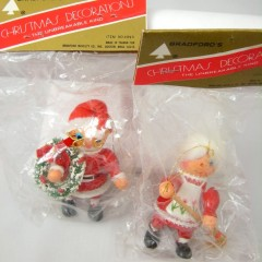 Santa and Mrs. Claus Bradford's Unbreakable Christmas Decorations