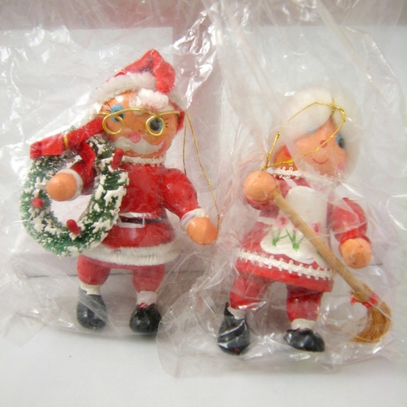 Mrs Claus Christmas Decorations Part - 30: Santa And Mrs. Claus Bradfordu0027s Unbreakable Christmas Decorations