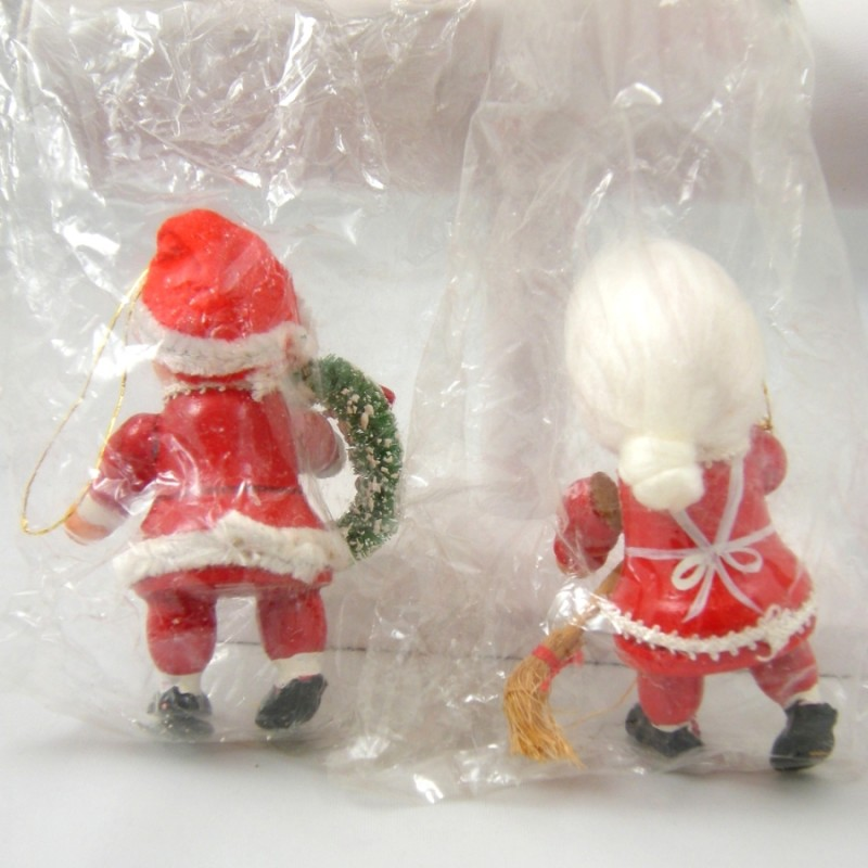 Mrs Claus Christmas Decorations Part - 46: Santa And Mrs. Claus Bradfordu0027s Unbreakable Christmas Decorations