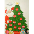 Large 1950s Vintage 10-Dime Money Christmas Tree Coin Holiday Card Unused