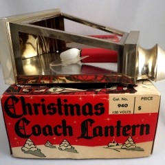 Vintage Christmas Coach Lantern Stagecoach Plastic Hanging Light