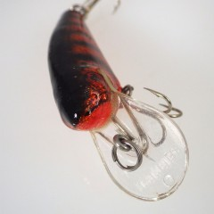 Black on Copper Foil Vintage Bagley Small Fry Shad Fishing Lure - SBC