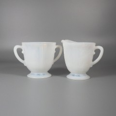 MacBeth-Evans American Sweetheart Monax Creamer and Sugar Bowl Set
