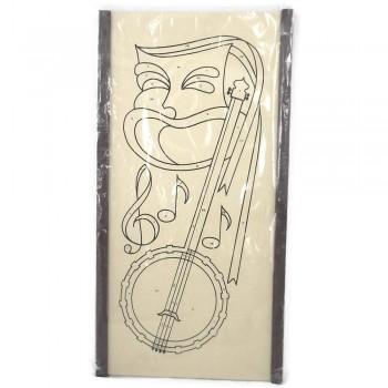 Tri-Chem Spark-L-Art Comedy Mask Vintage Wall Decorator Panel