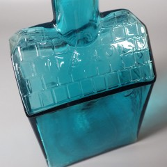 Vintage E.G. Booz's Old Cabin Whiskey Bottle in Aqua Blue