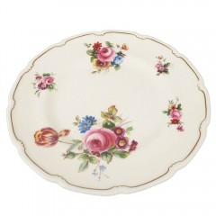 Royal Doulton The Bristol Bread Butter Plate Pair - V2080 Pink Roses Wild Flowers