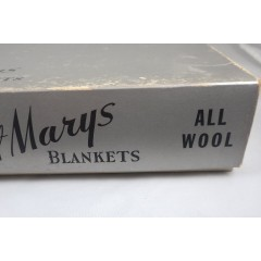 Unused 1950s All Wool Peach Bloom Whisper St Marys Blanket in Box - NOS